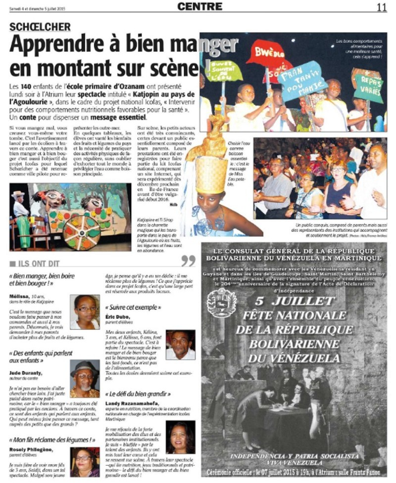 apprendre à manger-Article-France-Antilles